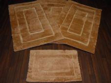 ROMANY GYPSYS WASHABLES GERMAN STYLE TRAVELLERS MATS THICK SETS OF 4 MATS/RUGS